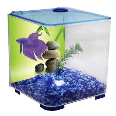 Betta Tank - Style Acrylic 3L With Light (Blue)