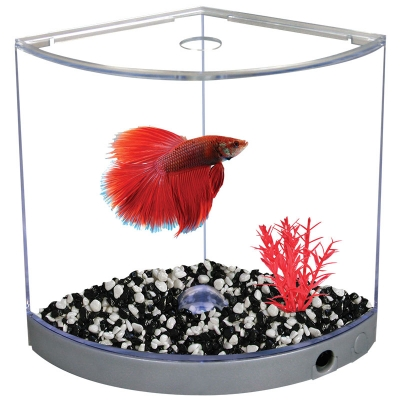 Betta Kit BettaArc w/ LED Base Light 1.2L Silver