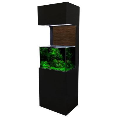 Elegance 60 Rectangular 120L Tall Cabinet Aquarium Set (black)