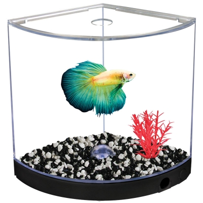 Betta Kit BettaArc w/ LED Base Light 1.2L Black